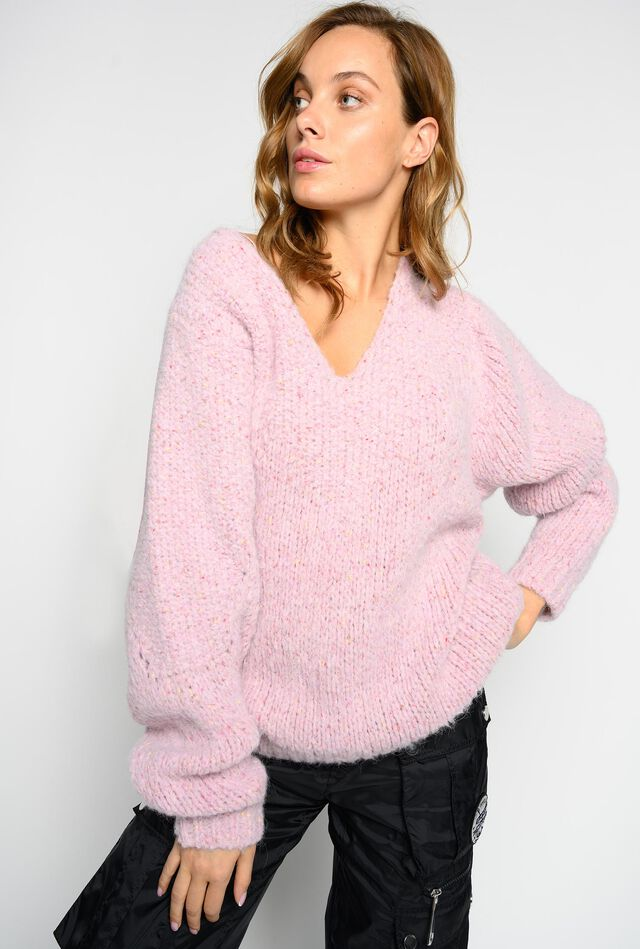 Oversize pattern pullover