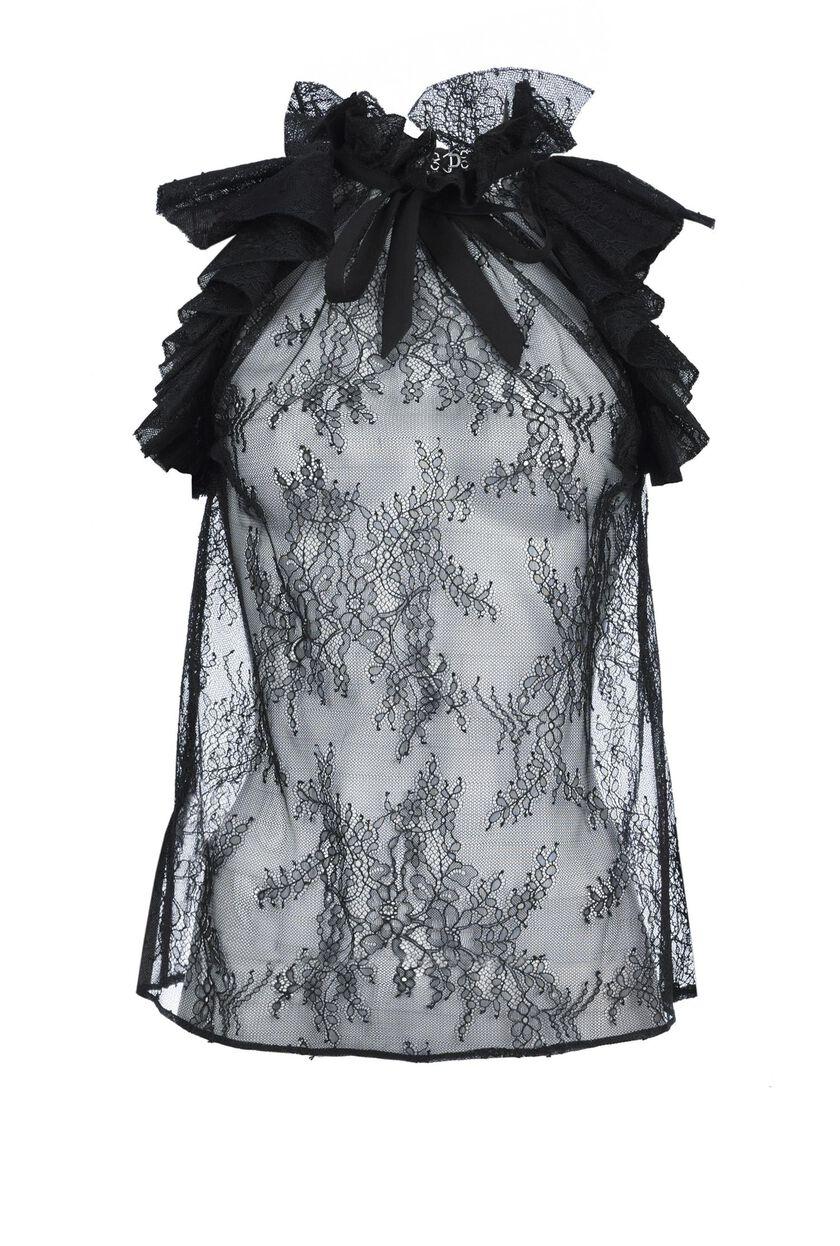 Rebrodé Valenciennes lace blouse