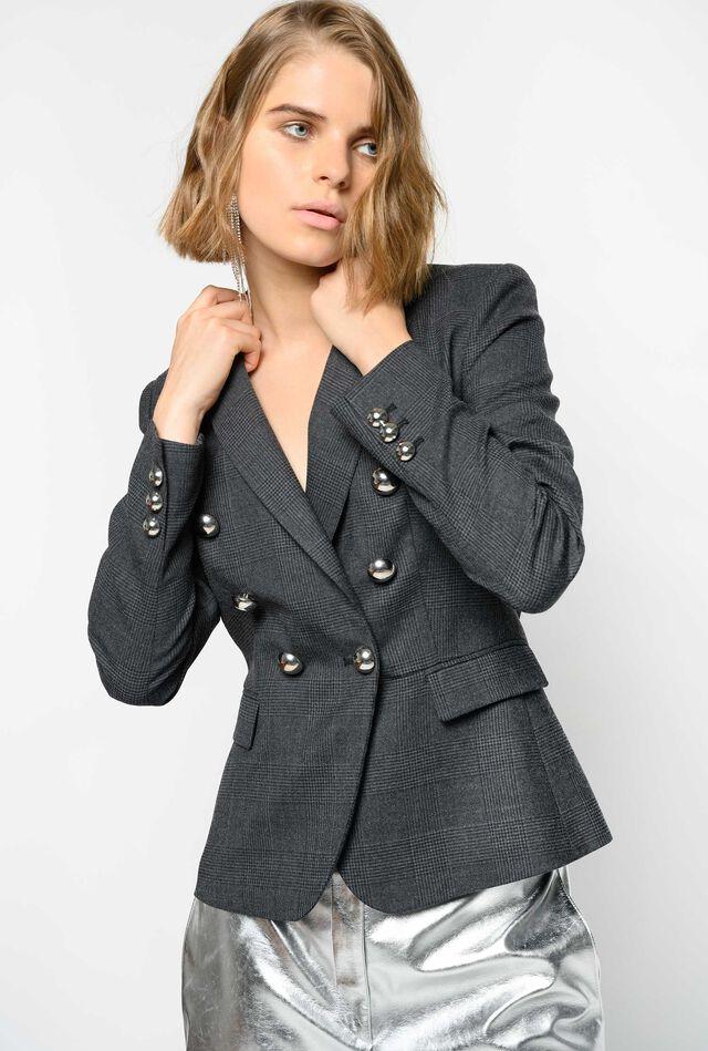 Wool Prince-of-Wales blazer