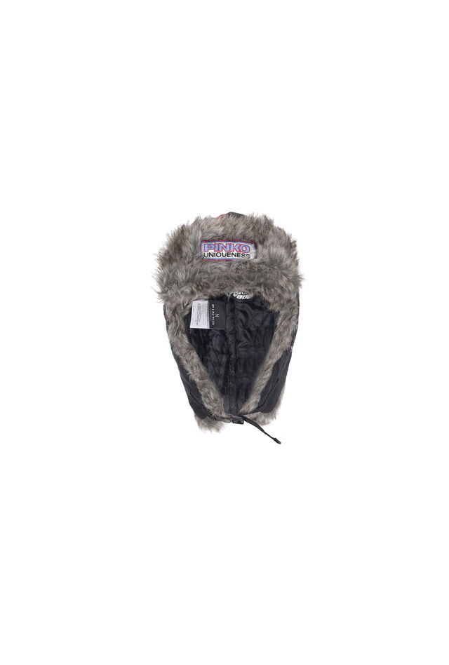 Padded faux fur cap