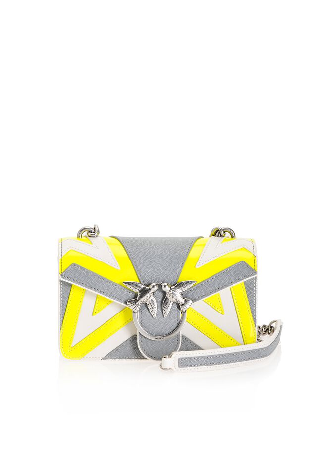 Chevron Mini Love Bag in caviar leather