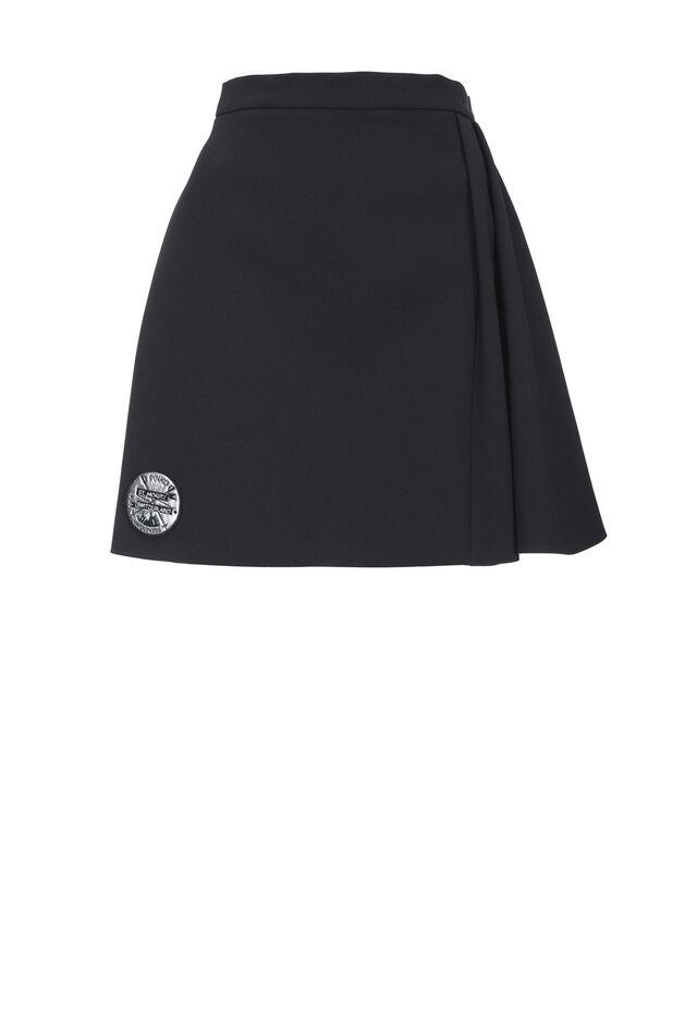 Bonded crêpe mini skirt