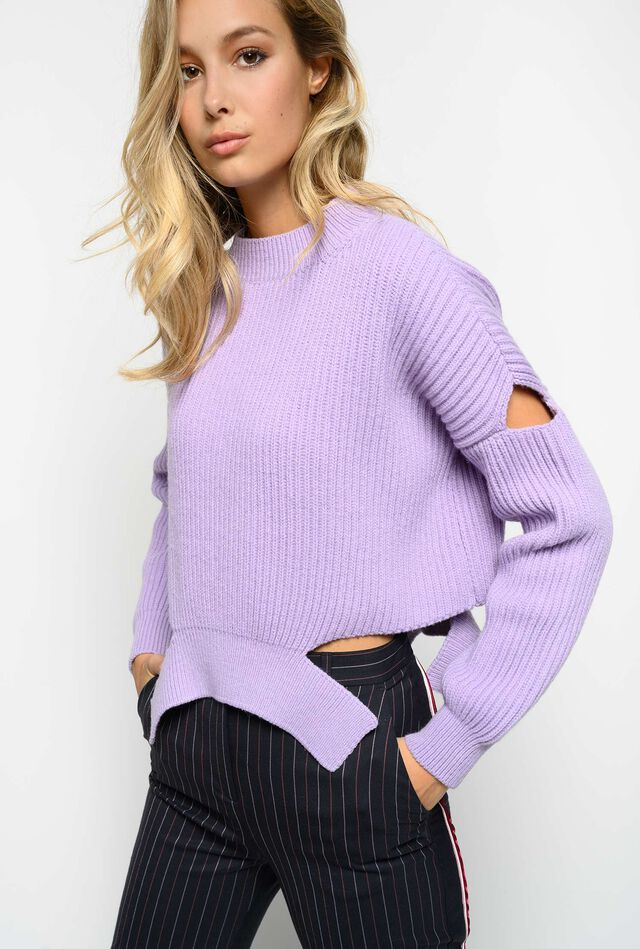 Pullover with cut-out