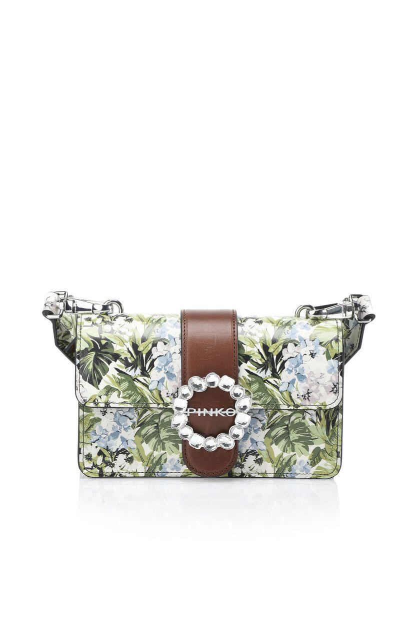 Bolso de piel con flores