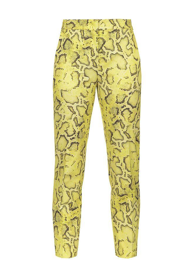 Pantaloni in ottoman stampa snake