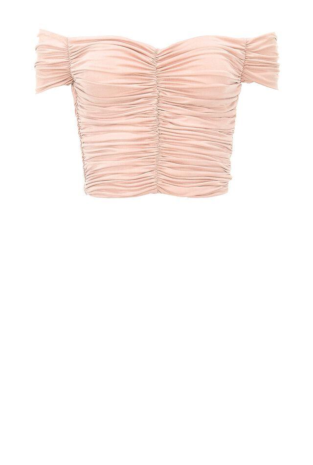 Top off-shoulders in jersey cupro