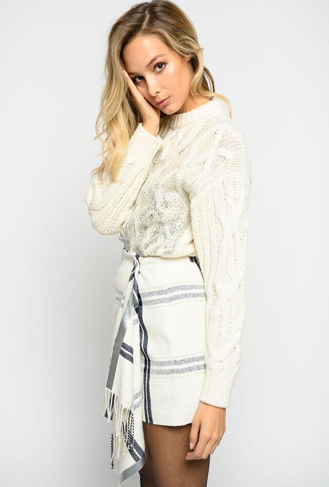 Minifalda con motivo check