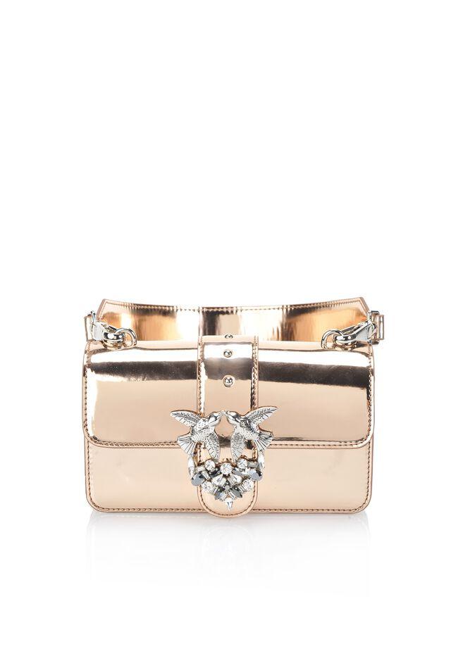 Mini Love Bag Sparkly effetto specchiato
