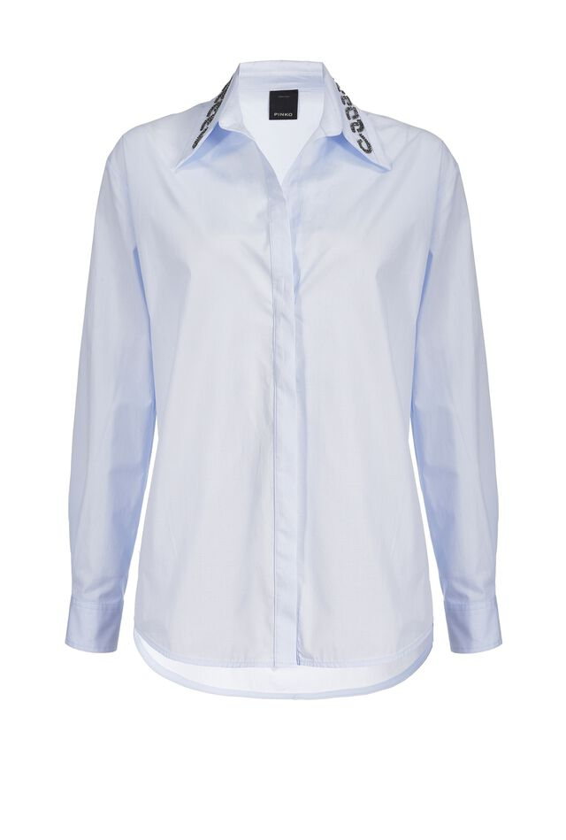 Camicia con ricamo sul colletto
