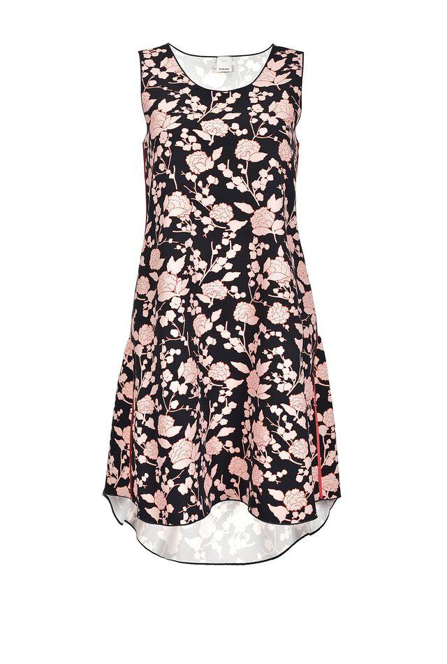 ラズベリー プリントの入ったショートドレス
