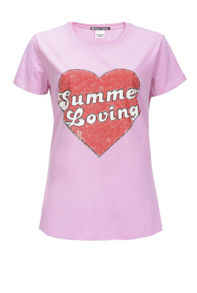 T-shirt in jersey di cotone Summer Loving