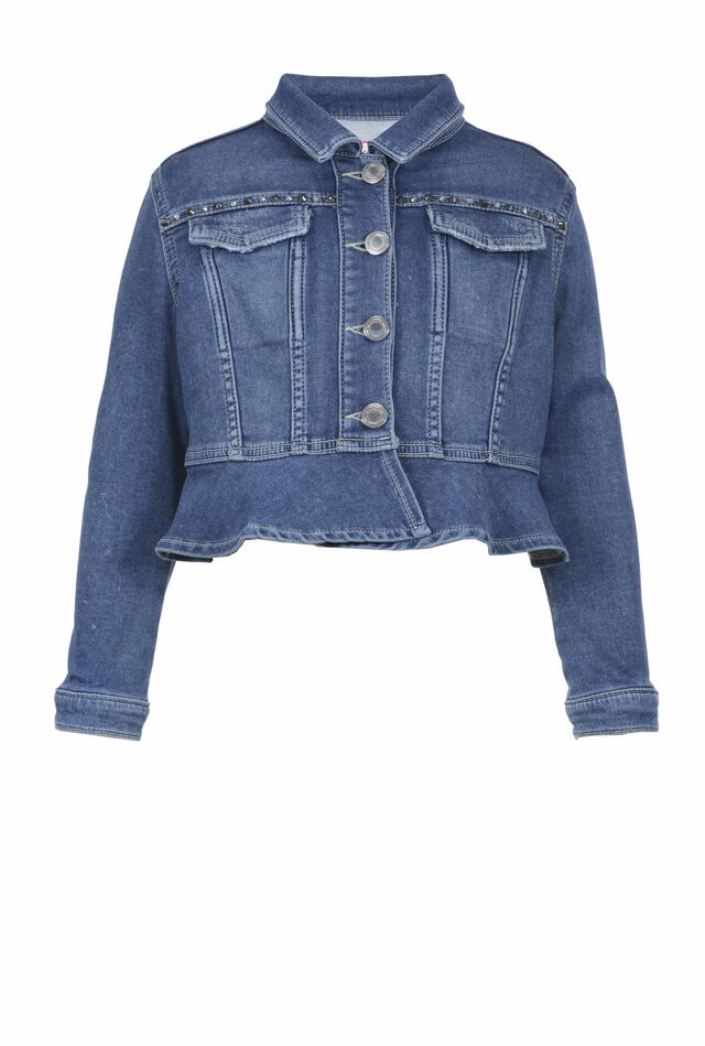 Denim-look fleece jacket