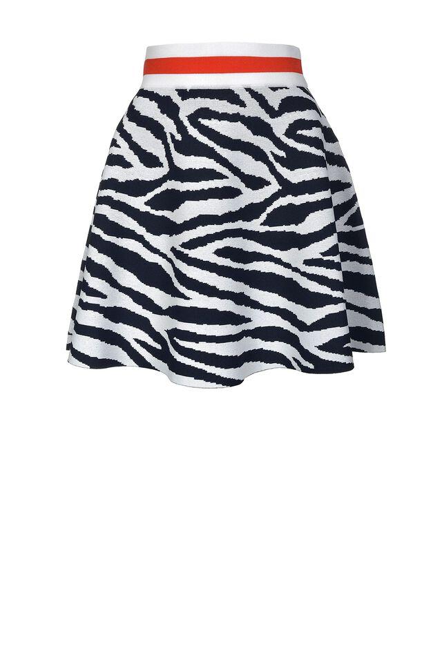 Minigonna in jacquard disegno zebra