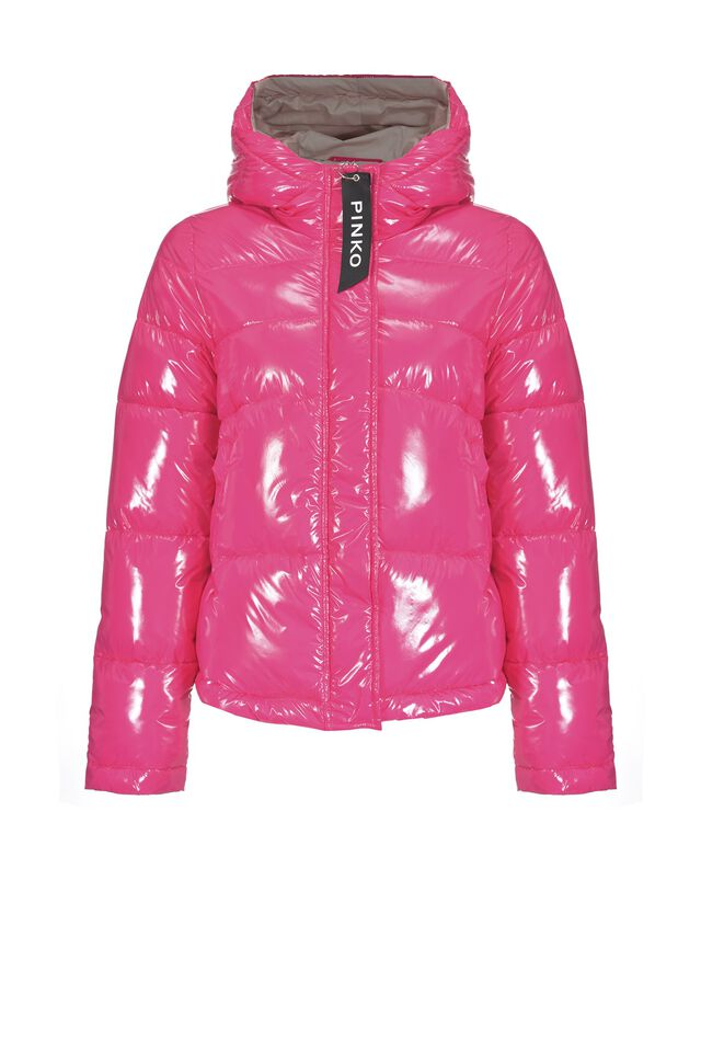Glossy quilted jacket