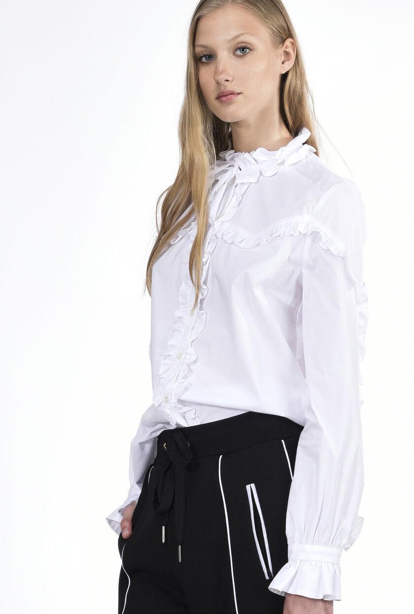 Camisa de popelina elástica