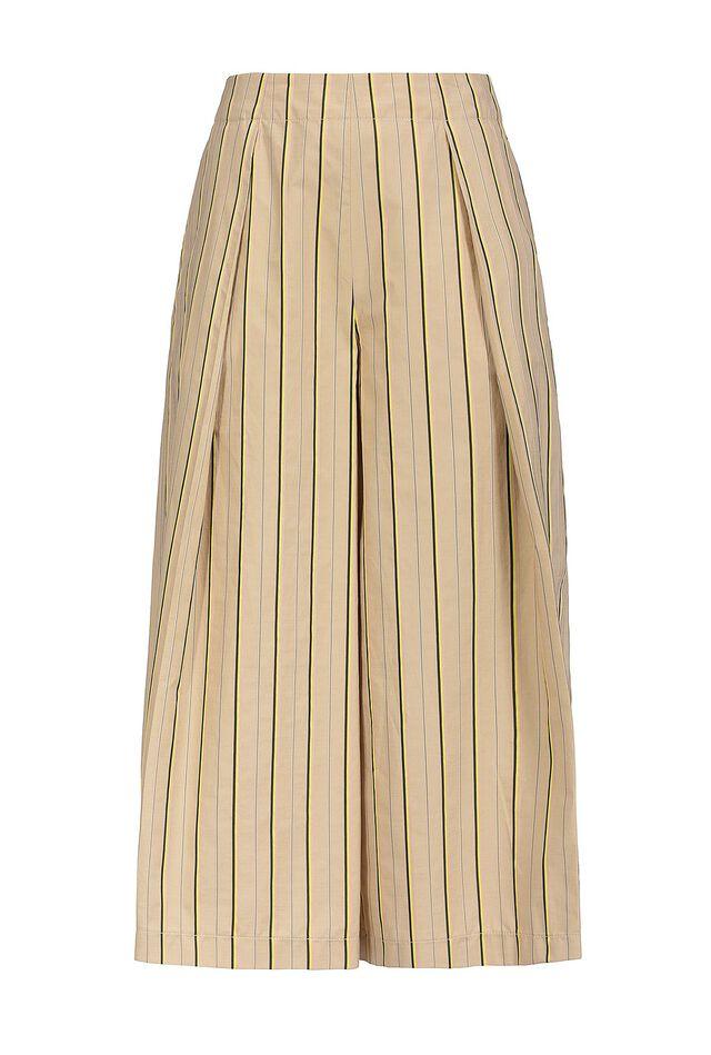 Pantaloni cropped in cotone bastonetto a righe