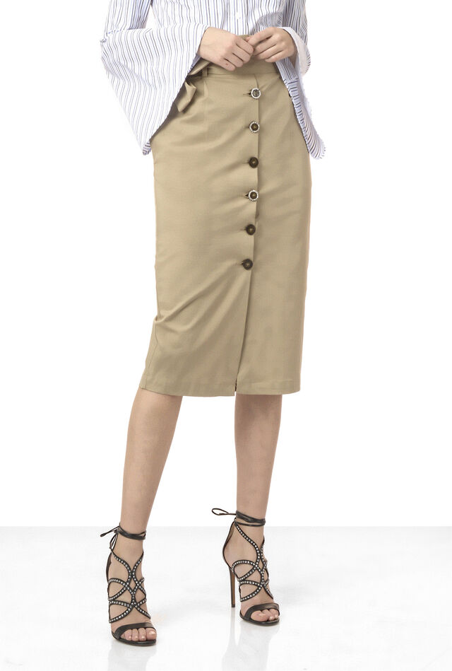 Luxury gabardine skirt