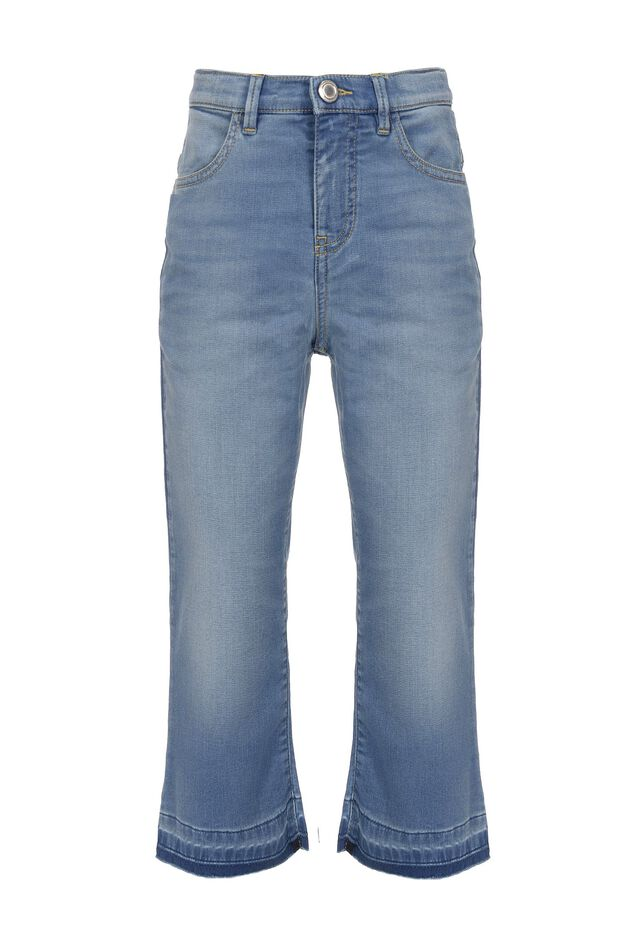Jeans in fleece effect denim fabric