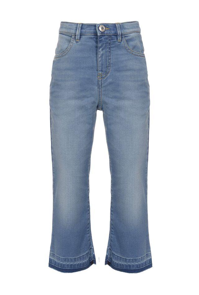Jeans in denim effetto felpa