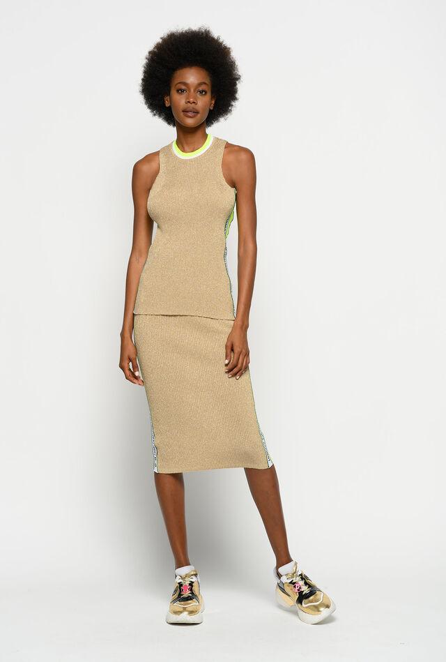 Lurex knit skirt
