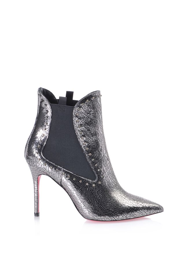 Laminated leather ankle boots Online Exclusive