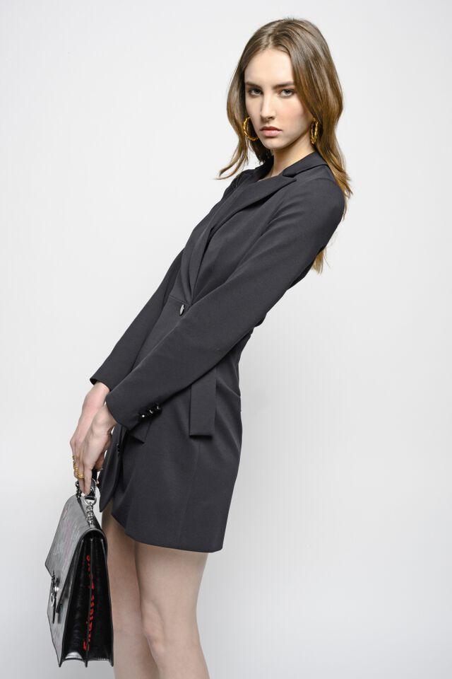 Coat dress in technical Milano stitch