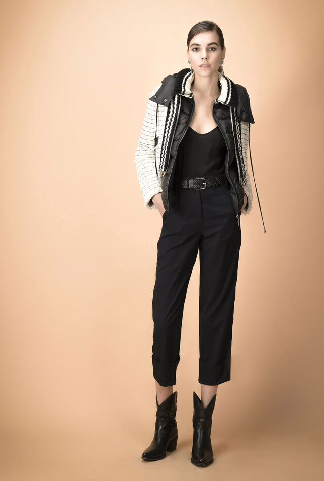 Cropped trousers with turn-ups