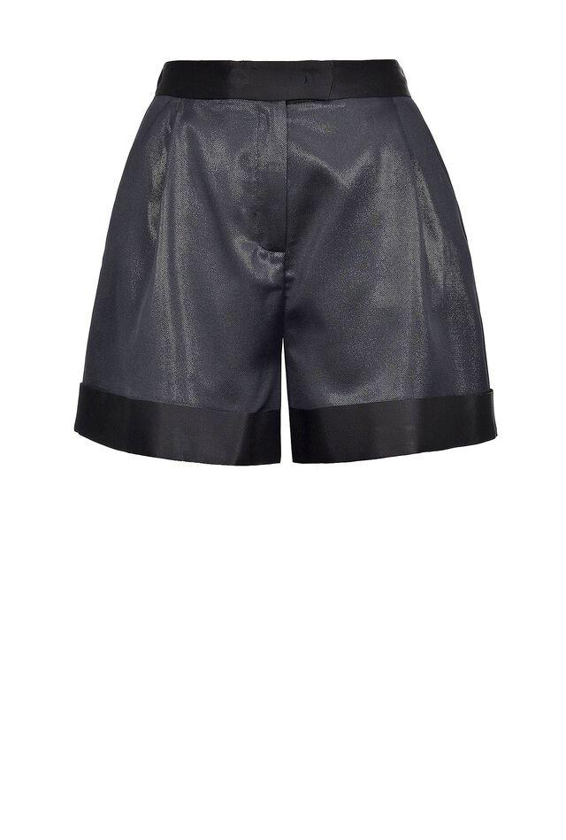 Shorts in tessuto lurex