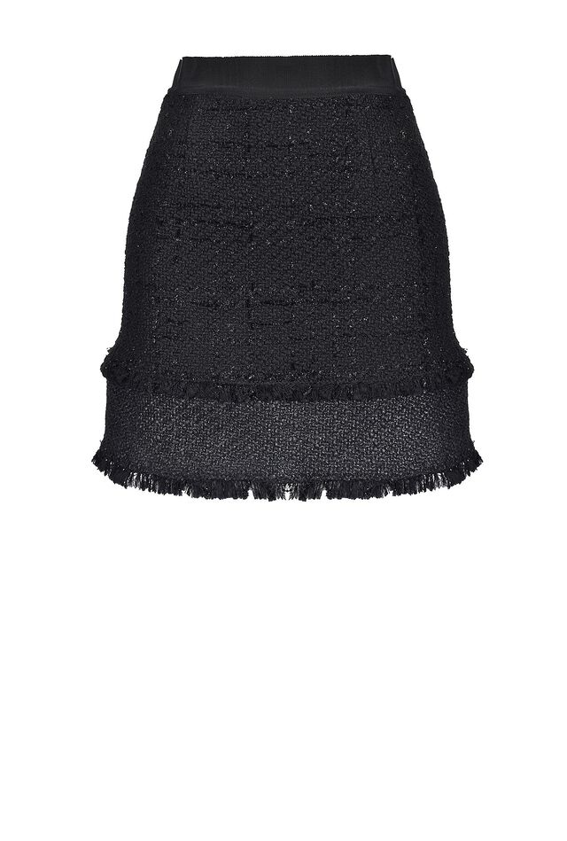 Lurex bouclé tweed mini skirt
