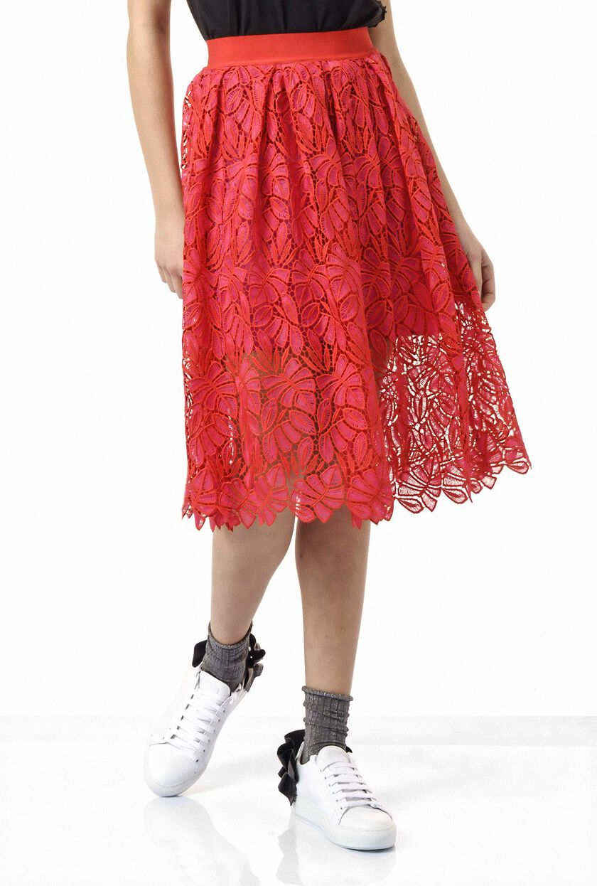 Macramé lace skirt