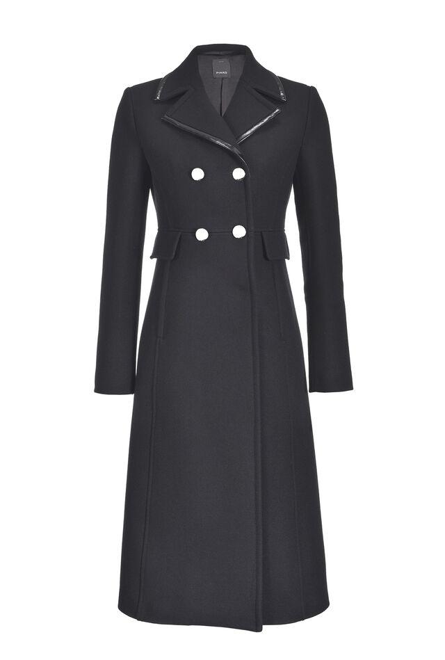 Cappotto lungo in panno di lana