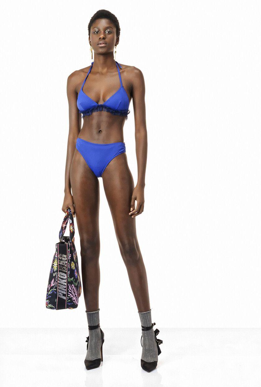 Bikini con volantes de tul