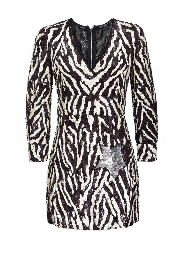 Zebra sequin dress