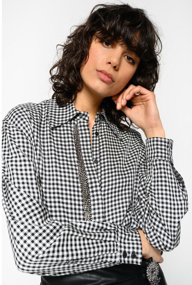 Rhinestone fringe shirt