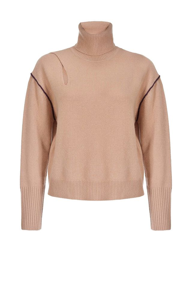 Pure cashmere cut-out pullover