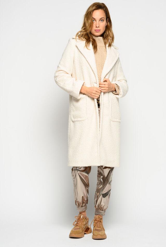 Cappotto lungo effetto shearling
