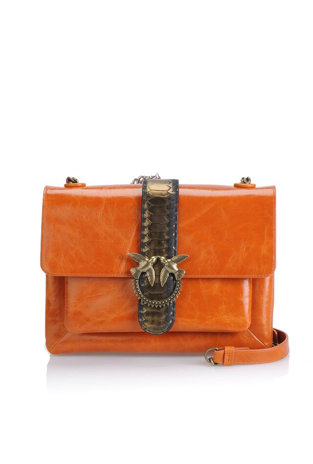 Big Love Bag Soft Python Western in pelle
