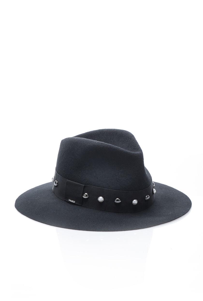 Felt hat with appliqués