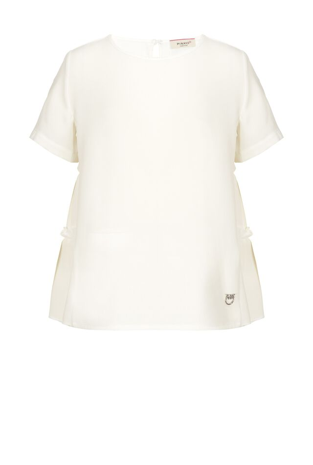 T-shirt a balze in jersey e georgette
