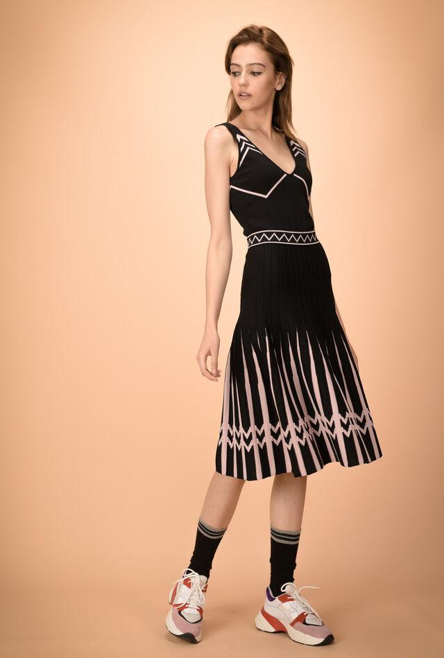 Midi skirt in viscose knit