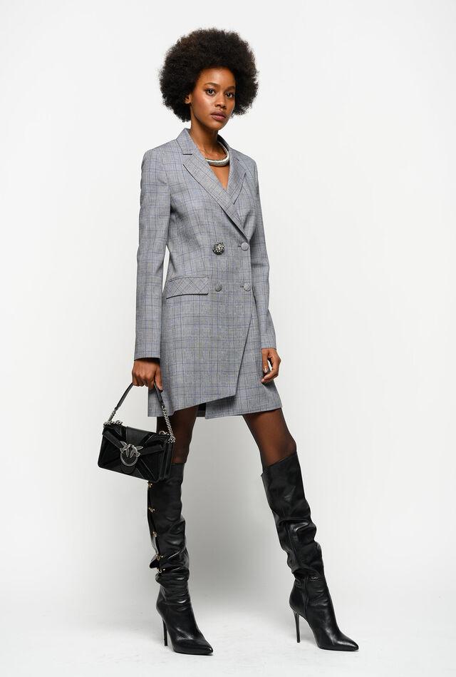 Vestido-abrigo de tela de lana