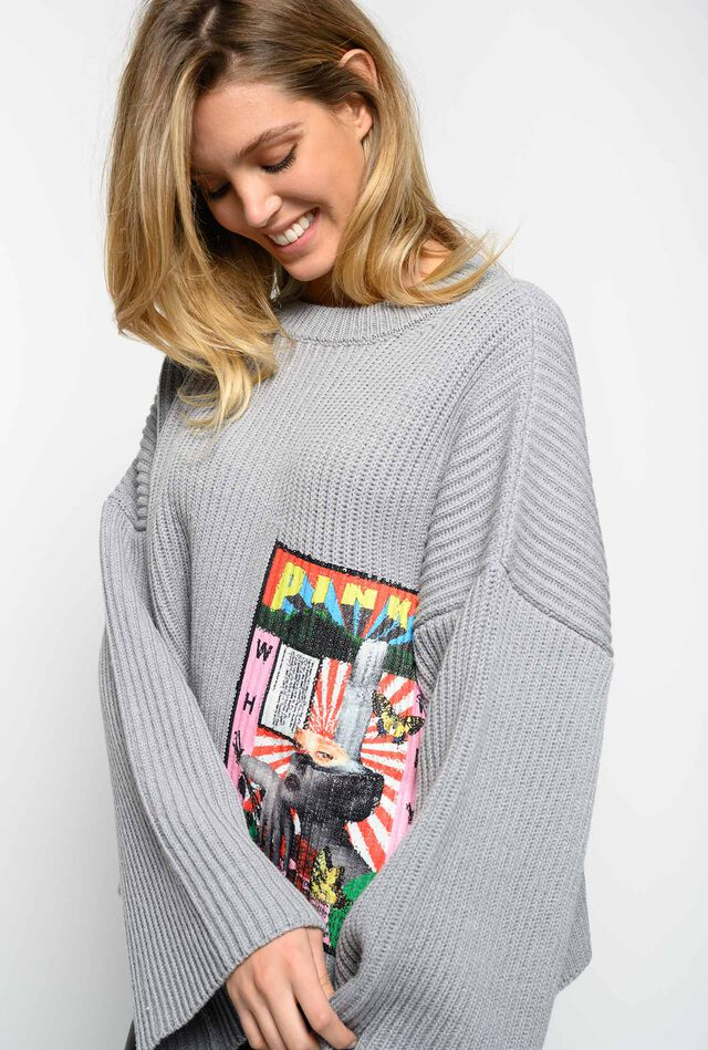 Sweater with Ultra Pop embroidery