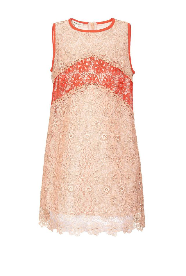 Dress in floral macramé lace