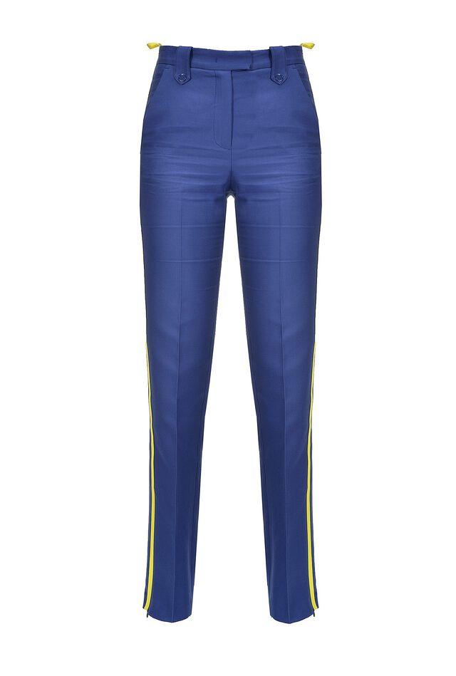 Pantalon évasé avec bande latérale