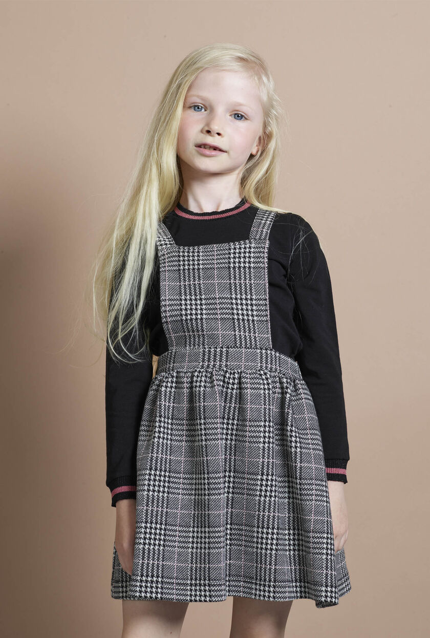 Knit and Prince-of-Wales check dress