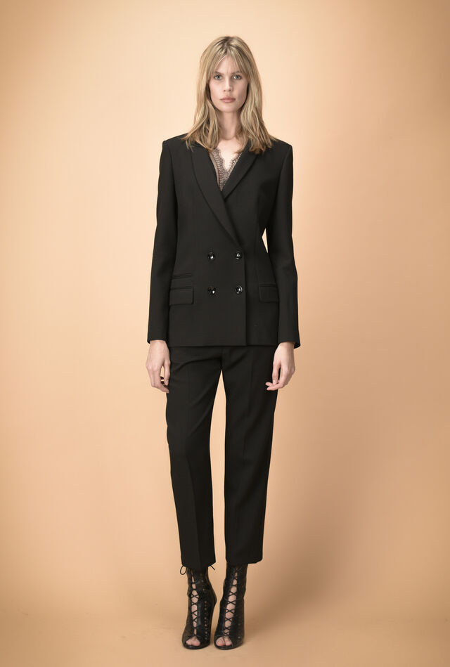 Blazer in textured fabric