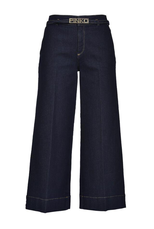 Slim palazzo jeans in stretch denim