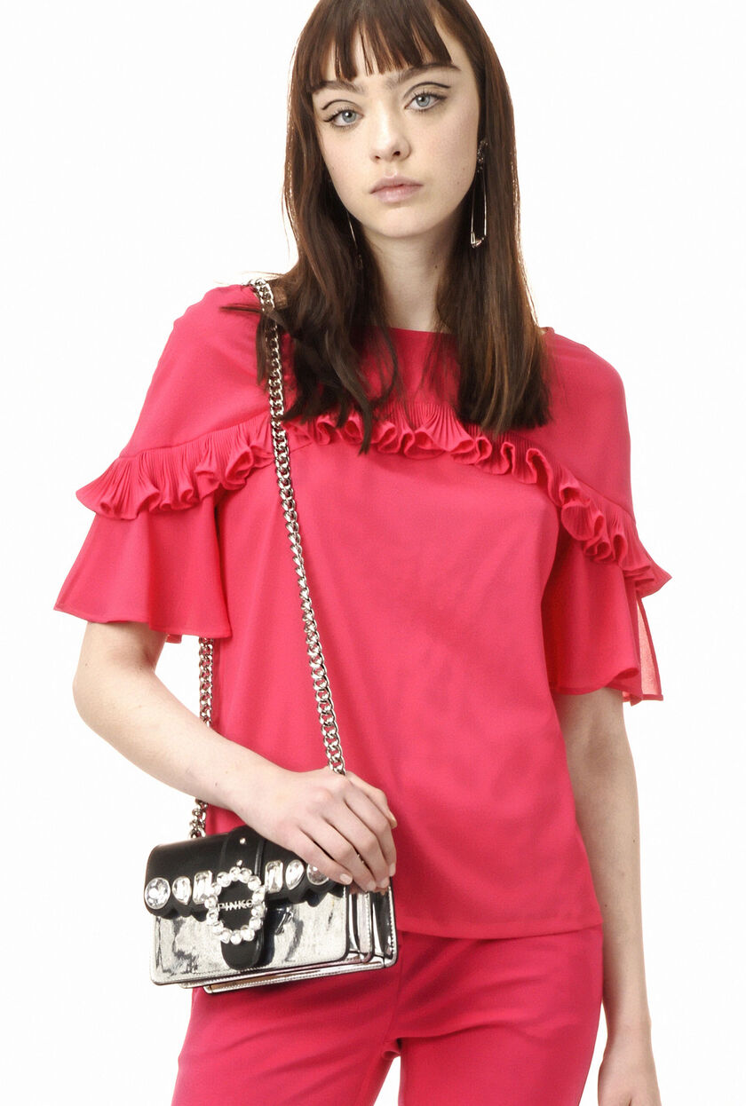Blouse in micro crepe