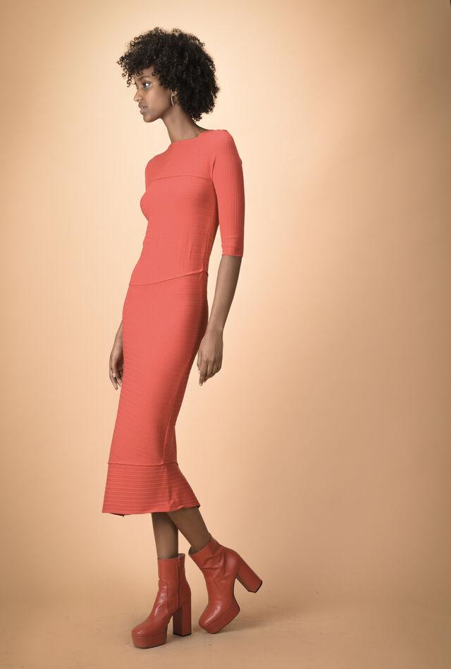 Midi dress in maglia asimmetrico