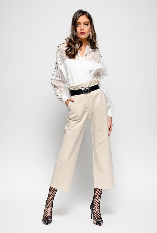 Pantaloni in gabardina di cotone leggera
